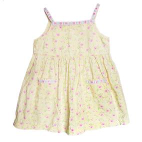 Vestido De Niña Sencillo Talla 5 Floreado Color Amarillo