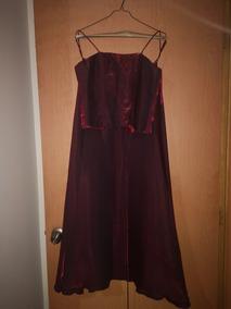 Vestido De Noche 2 Piezas Color Guinda Talla 9