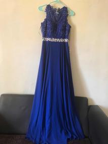 Vestido Noche Azul Vestidos Largo Nuevo En Coahuila En
