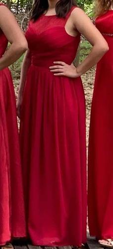 vestido de noche chico rojo