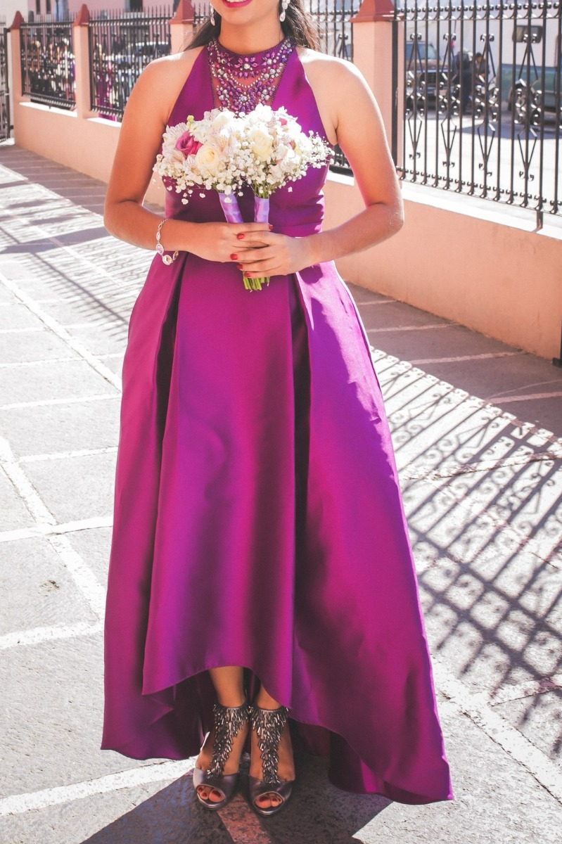 Perfecto Vestidos De Dama De Honor De Color Magenta Colección ...