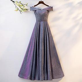 fotos oficiales a2f3f 3fd22 Vestido De Noche, Falda Larga Elegante. Mujer.
