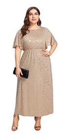 código promocional comprar bien gran variedad de estilos Vestido Noche Xxl Mujer - Vestidos Largo Beige en Mercado ...