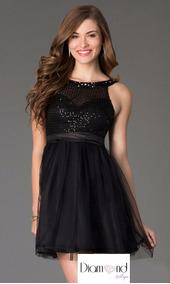 bonito diseño 100% de garantía de satisfacción fotos nuevas Vestido Negro De Noche Para Graduacion - Vestidos Graduación ...