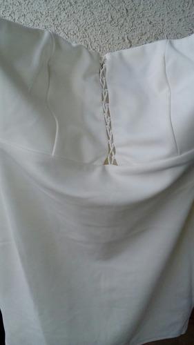 vestido de noche forever 21 strapless acordonado