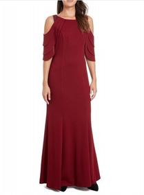 Vestido De Noche Formal Color Vino