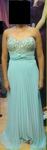 vestido de noche - gasa plisado - nuevo!!