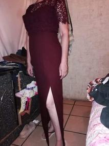 Vestido De Noche Guinda