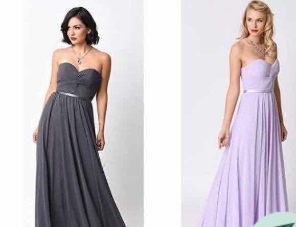 Vestidos strapless para damas de honor
