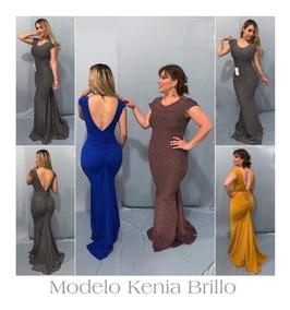 4a9b9c6e2286 Vestido De Noche Largo Con Escote En La Espalda