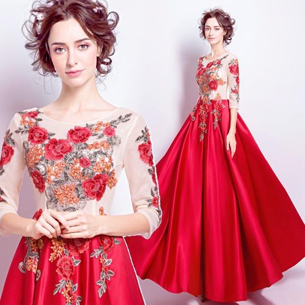 bafb2c97dc Vestido De Noche Largo Rojo