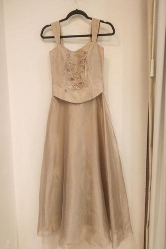 vestido de noche largo talla 28