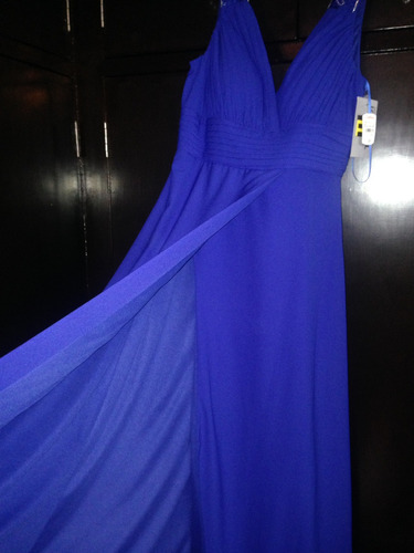 vestido de noche marca trendi, nuevo