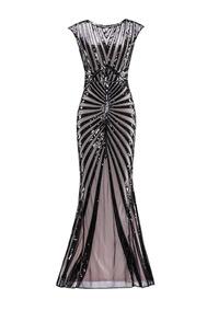 52f7aa567 Vestidos De Noche Catorceveinte Graduacion Mujer - Vestidos Negro en ...