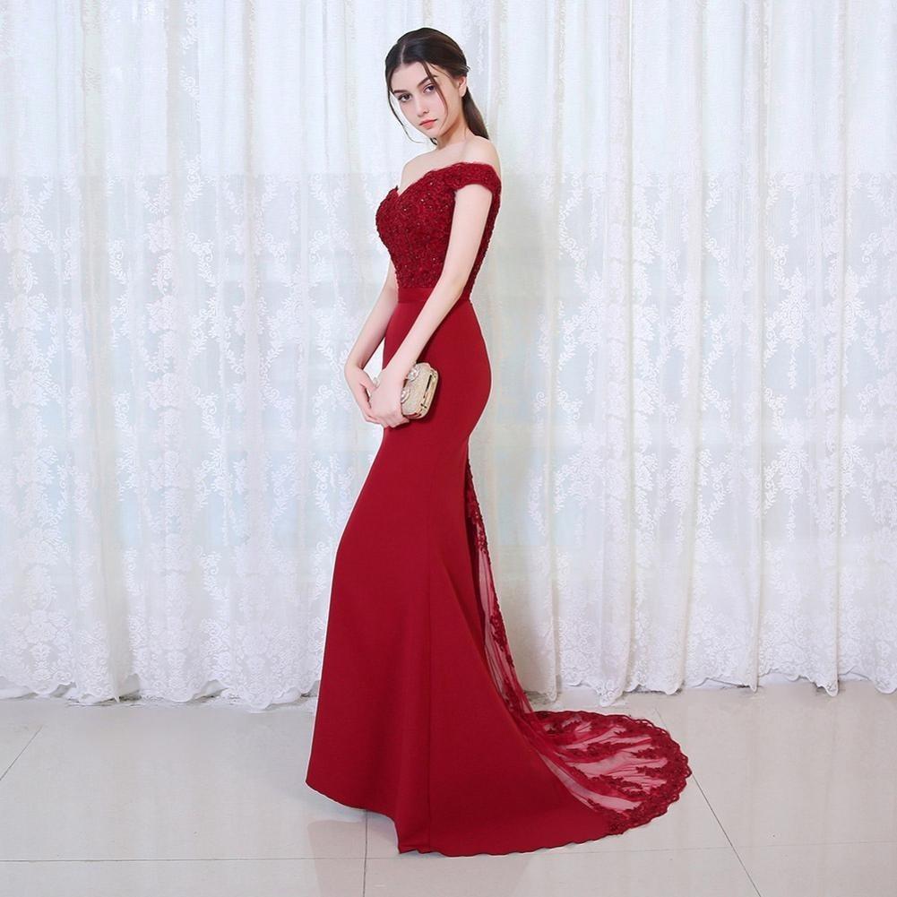 0bdea3d1f vestido de noche rojo largo ajustado elegante fiesta boda. Cargando zoom.