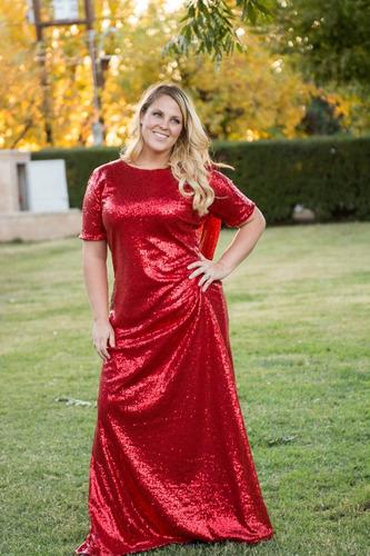 vestido de noche  rojo/dorado rosie&claire