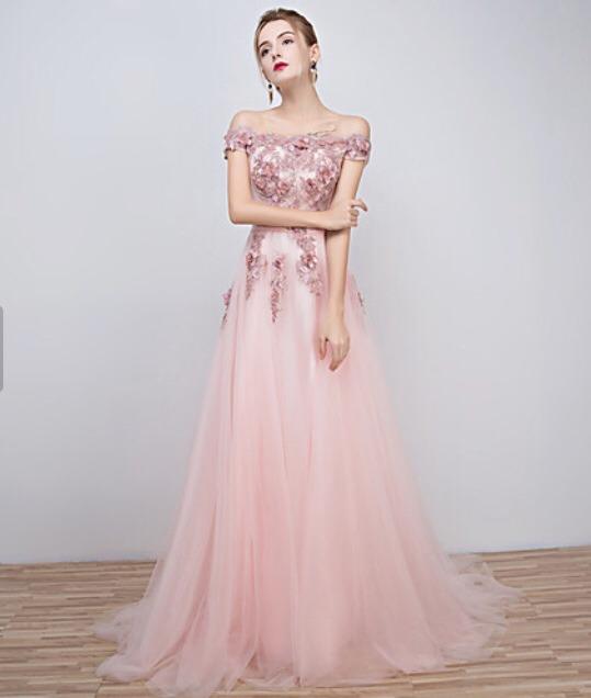 Vestido De Noche Rosa 130000 En Mercado Libre - Vestidos-de-de-noche