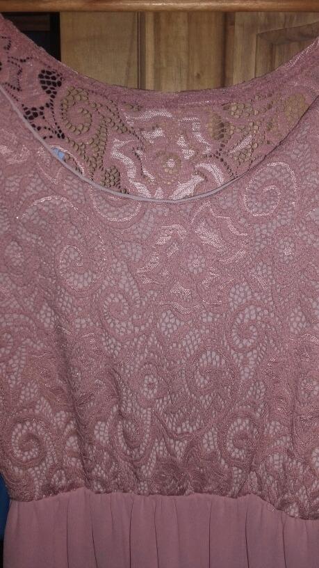 Vestido de noche rosa viejo