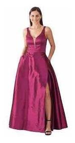 Vestido De Noche Rue De La Paix Color Guinda Talla 4