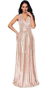 Vestidos Acunturado Rose Gold Recuerdos Cotillón Y