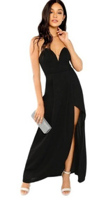 Vestido De Noche Sexi Elegante Straple De Fiesta Mujer Dama