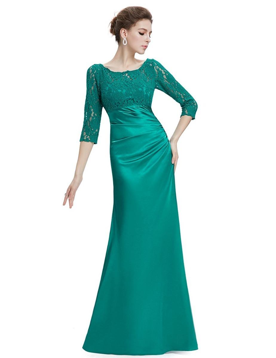 Vestidos noche verde