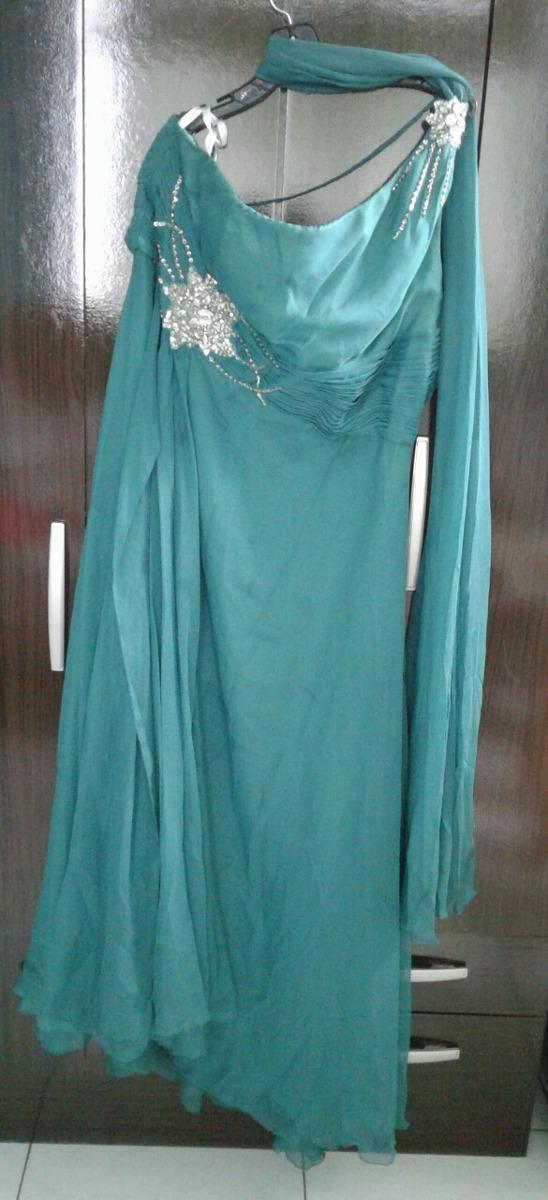 Vestidos verde jade de noche