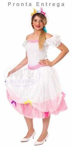 vestido de noiva adulto junina caipira noivinha festa junina