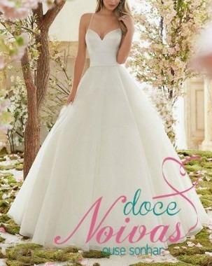 Vestido De Noiva Alça Princesa Tais