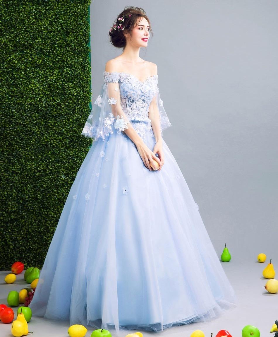 Vestido de casamento azul