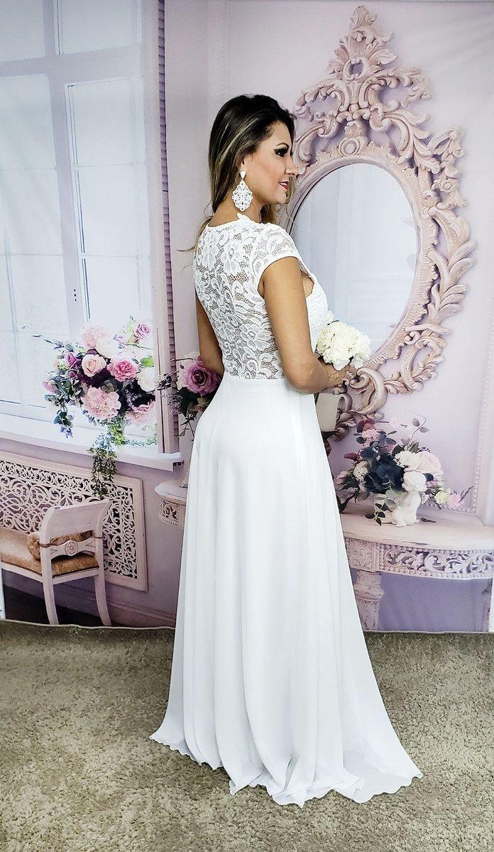 Vestido De Noiva Casamento Civil Praia Campo Simples