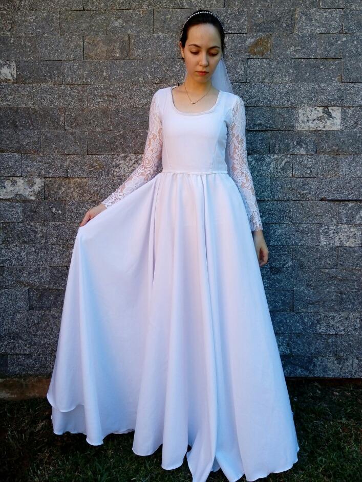 ce2c648372 vestido de noiva casamento festa moda evangélica mirian buss. Carregando  zoom.