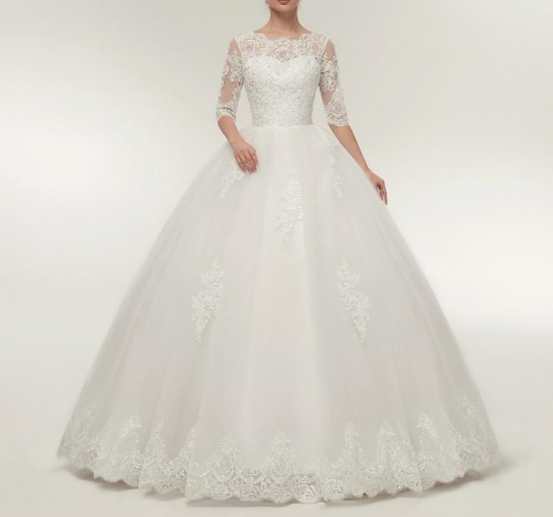 Vestido De Noiva Casamento Lindo Pronta Entrega Fli 36b