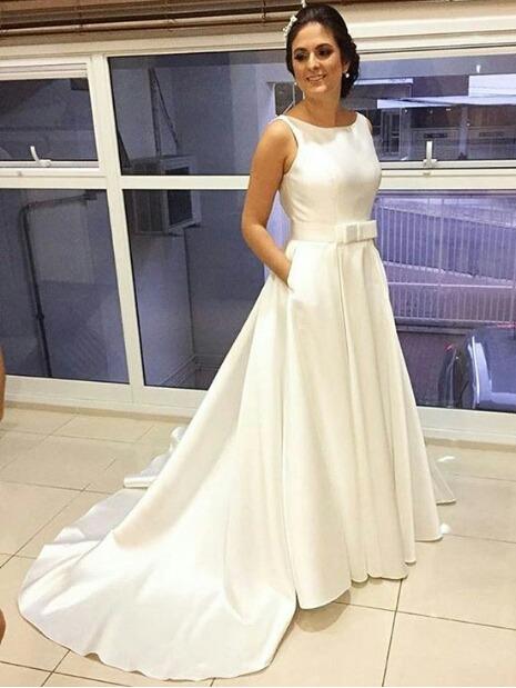 Vestido De Noiva Cetim Laco Chanel Gode Duplo Casamento R 350