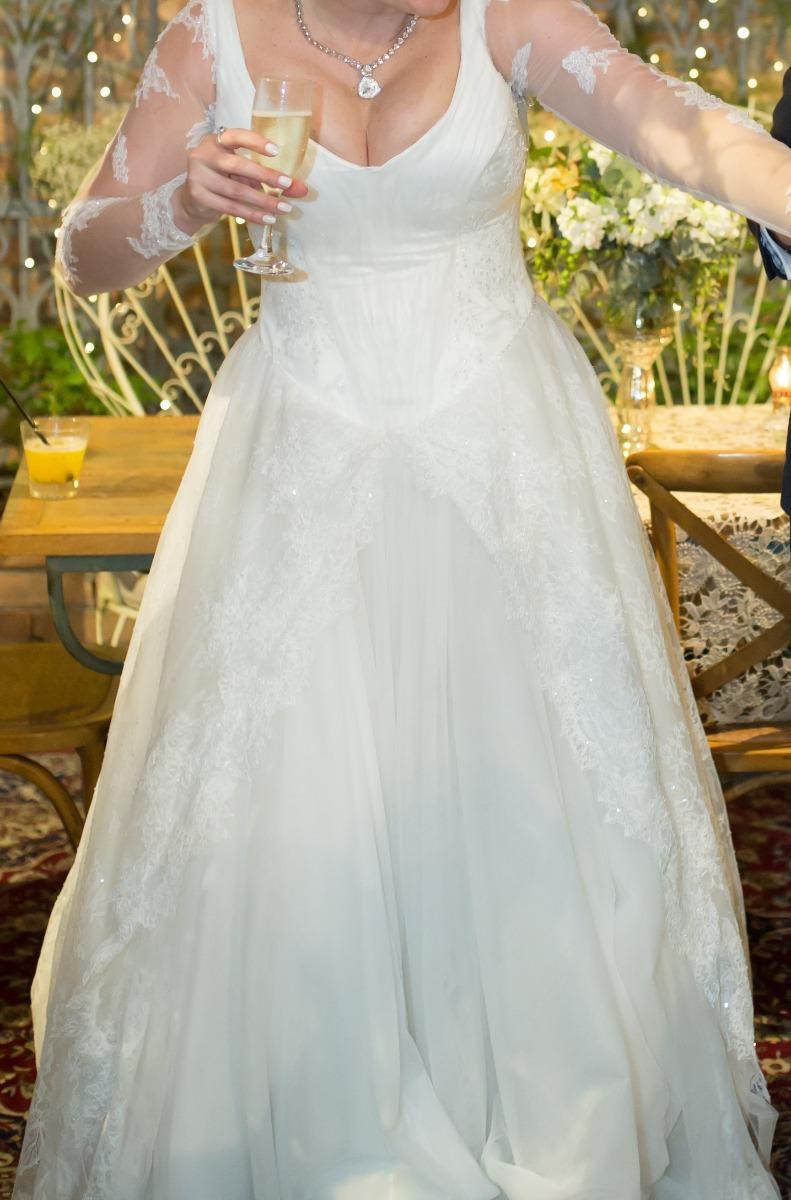 a3258643ea vestido de noiva clássico - seios grandes com desconto. Carregando zoom.