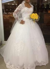 Vestido De Noiva De Renda Bordada Bolero