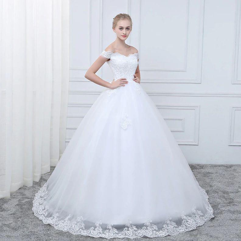Vestido De Noiva Debutante Tulipa Alça Ombro Princesa