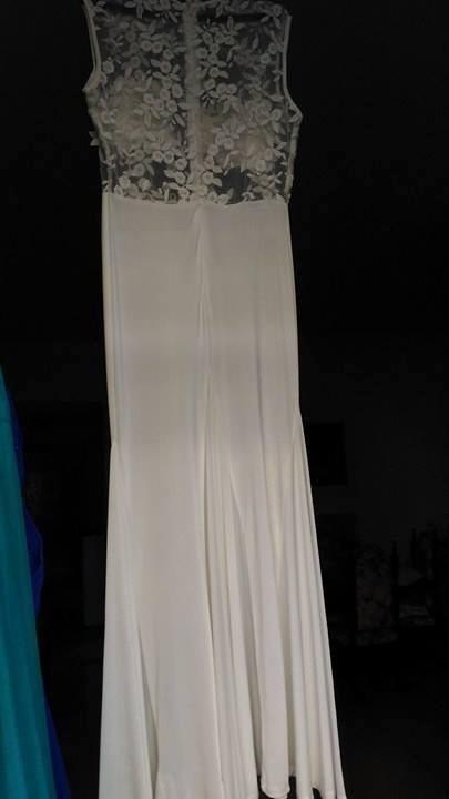 982cf38ad3 Vestido De Noiva Em Malha De Jersey - R  140