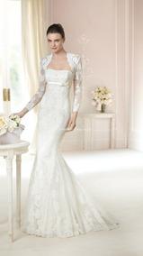 Vestido De Noiva Em Renda Com Bolero Tango White One