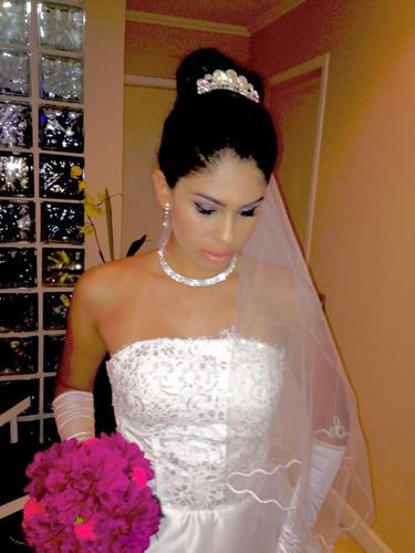 vestido de noiva lindo com cauda partylight atelier