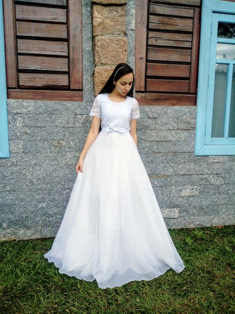 Vestido De Noiva Longo Simplesbonitobaratofestacasamento