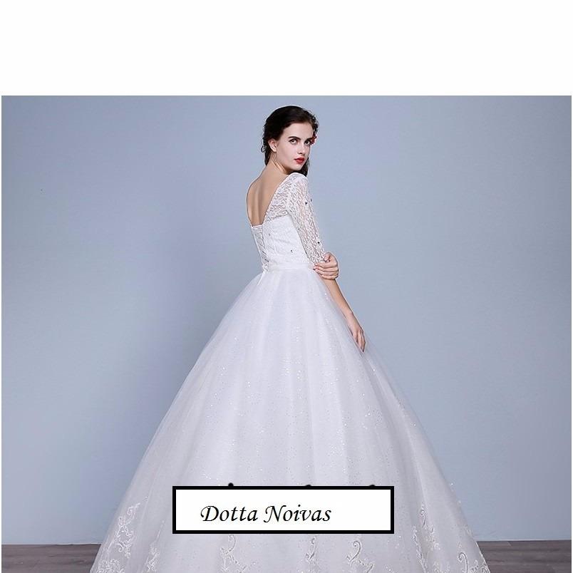 Vestido De Noiva Longo Simples Casamento Barato Pronta