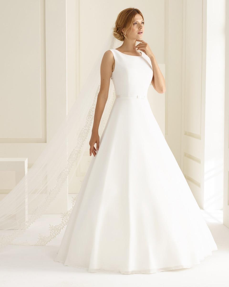 Vestido De Noiva Moderno E Delicado Cerimonia Dia Ou Noite