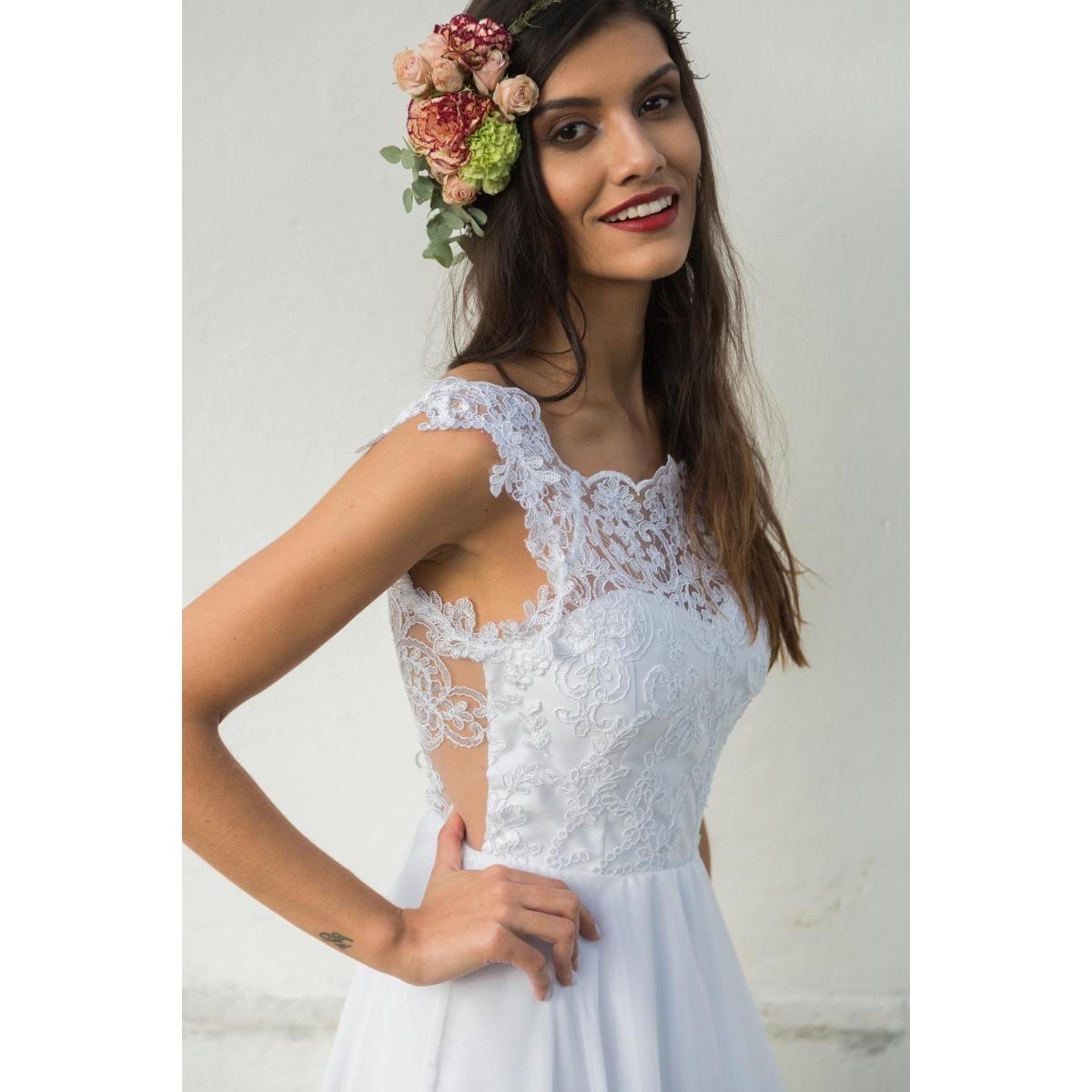 dafa1c9a14 vestido de noiva o amor é simples - modelo gaia. Carregando zoom.