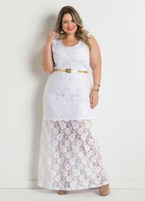 Vestido De Noiva Plus Size Civil Ou Pré Wedding De Renda