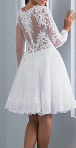 vestido de noiva princesa curto -barato divo pronta entrega
