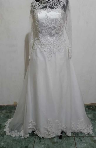 vestido de noiva princesa de manga ombro a ombro