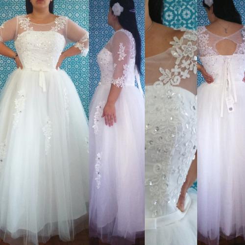 vestido de noiva princesa rendado plus size  barato