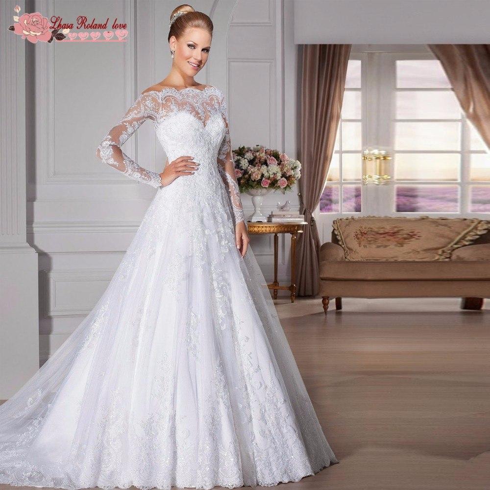 Vestido de noiva de renda manga longa mercadolivre
