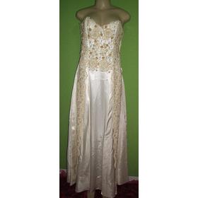 Vestido De Noiva Rendas Retro Bordado 42